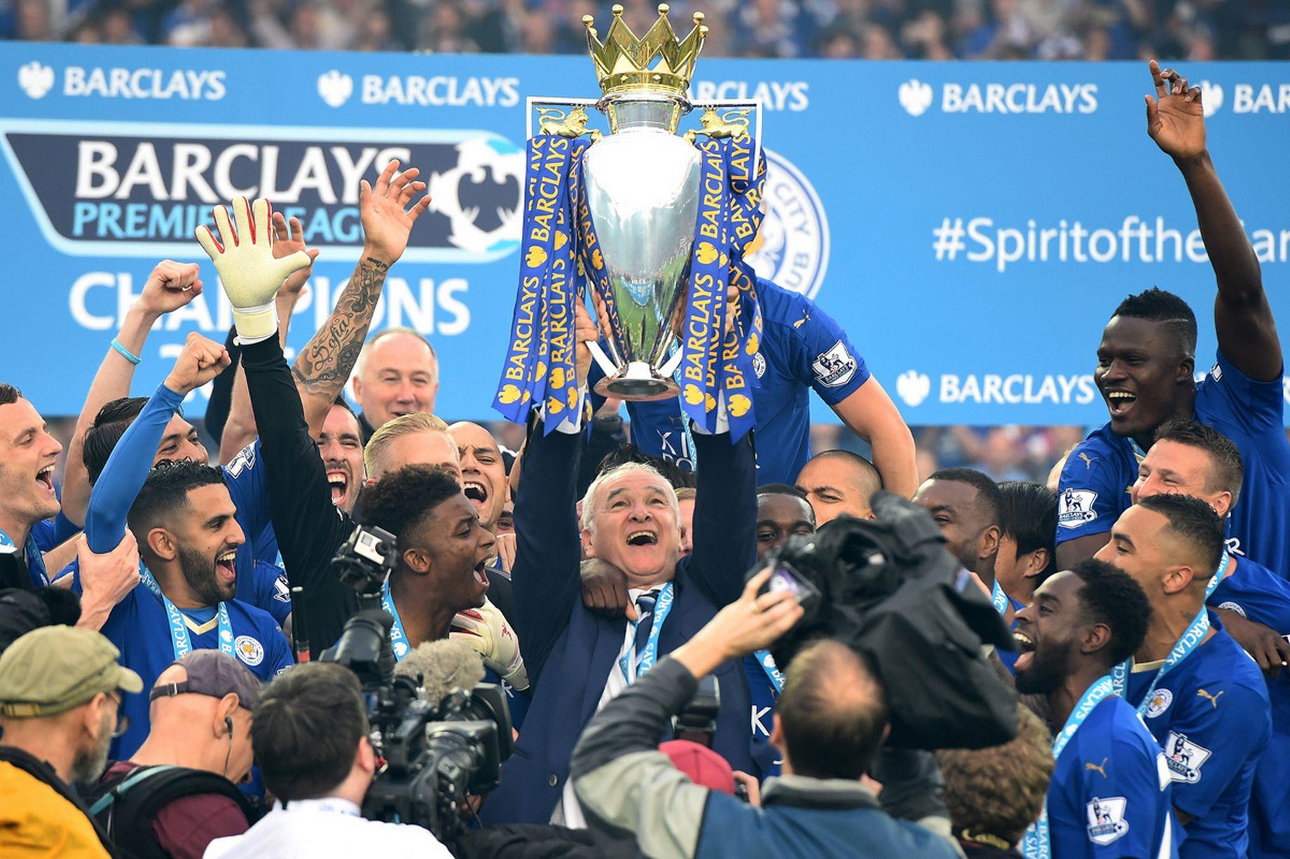 Leicester City Premier league trophy